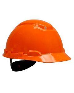 3M Peltor Hi-Viz Orange Ratcheting Hard Hat