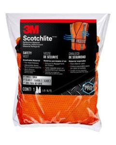 3M Reflective Construction Hi-Viz Orange Safety Vest Class 2
