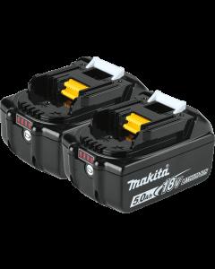 Makita 18V LXT® 5.0Ah Battery, 2/pk