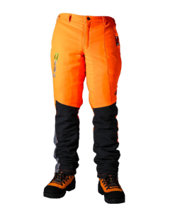Clogger Zero Gen 2 Chainsaw Pants Hi-viz Orange - 360 Calf Protection